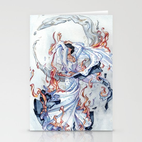 The Bride on fire Stationery Cards