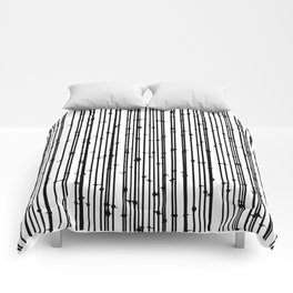 Distraction #abstract #blackandwhite Comforters