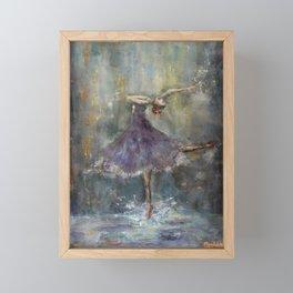 Dancing in the rain Framed Mini Art Print