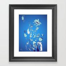 Aquatic Creatures Framed Art Print