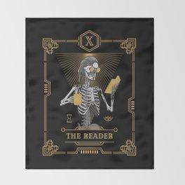 The Reader X Tarot Card Throw Blanket