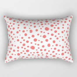 abstract dots coral and white modern trendy basic pattern print nursery pattern Rectangular Pillow