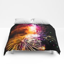 Fireworks Display Addison Texas Kaboom Town 2017 Comforters