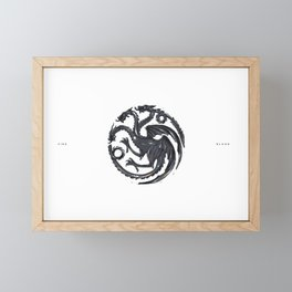 Fire & Blood emblem Framed Mini Art Print