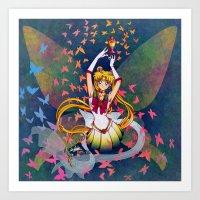 Super Sailor Moon and Rainbow Moon Chalice Art Print