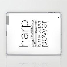 Harp is my super power (white) Laptop & iPad Skin