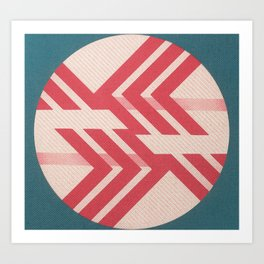 Diagonal War Art Print