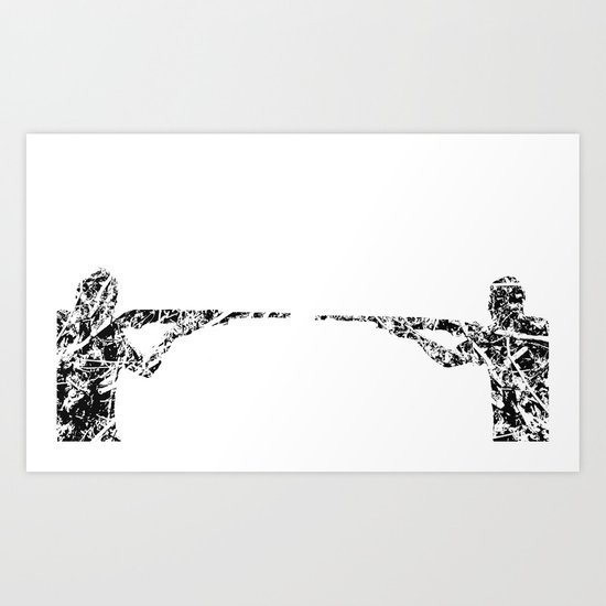 Gun fight Art Print