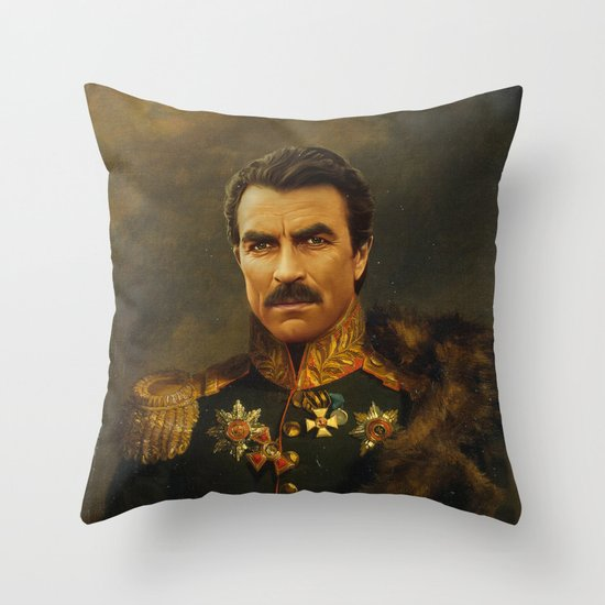 Tom Selleck - replaceface Throw Pillow