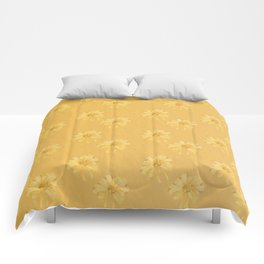 Yellow Orange Bows Comforters