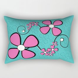Double Daisys Rectangular Pillow