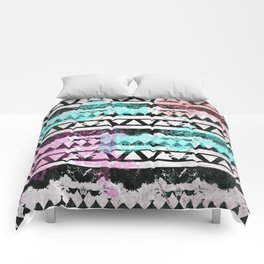 Black and White Aztec Pattern Comforters