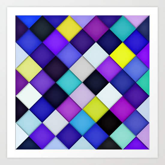 Quilted with Halftone Art Print