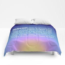 Happy Holidays Sunrise Comforters