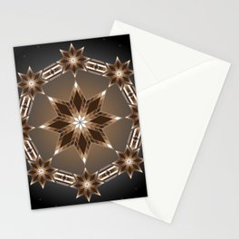 Morning Star Circle (Brown) Stationery Cards