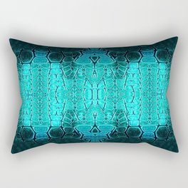 Aqua and Green Turtle Plate Rectangular Pillow