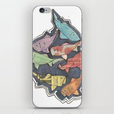 Newspaper Fish iPhone & iPod Skin