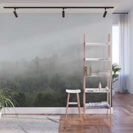Foggy Forest Mist Landscape Photography   Woods   Nature   Travel   Rustic Wall Mural