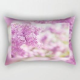 Lilac vibrant pink inflorescence shrub Rectangular Pillow