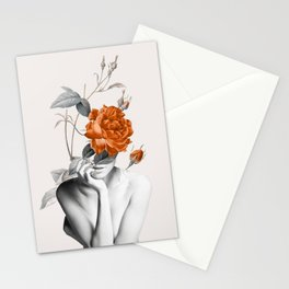 Rose 3 Stationery Cards