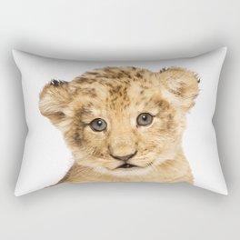Lion Cub Rectangular Pillow