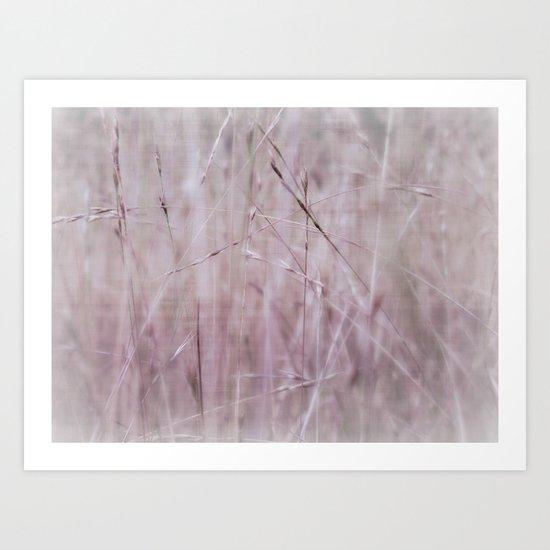pink grass Art Print
