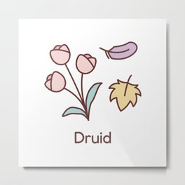 Cute Dungeons and Dragons Druid class Metal Print