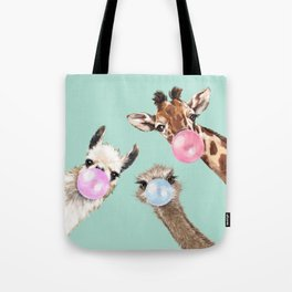 Bubble Gum Gang in Green Tote Bag