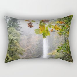 Autumn at Multnomah Falls Rectangular Pillow