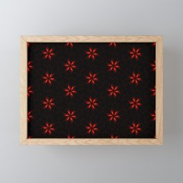 Small Red Flowers Framed Mini Art Print