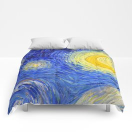 "Vincent Van Gogh "" Starry Night "" , Partial expansion Comforters"