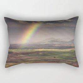 Rainbow over the Palouse Rectangular Pillow