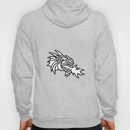 Mythical Dragon Breathing Fire Mascot Hoody
