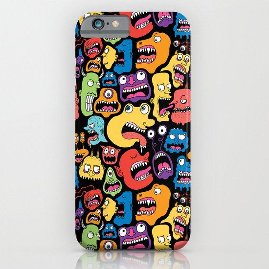 Monster Faces Pattern iPhone & iPod Case