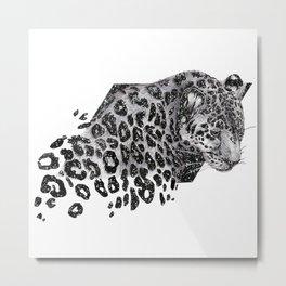 Cosmic Leopard Metal Print