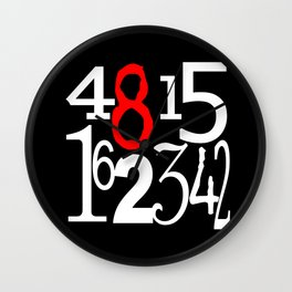 Lost Numbers in Black Wall Clock