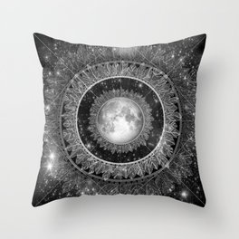 Major Tom (floating in my tin can, far above the Moon) Throw Pillow