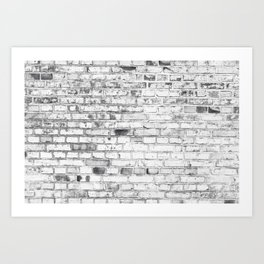 Withe brick wall Art Print