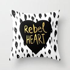 Rebel Heart Throw Pillow
