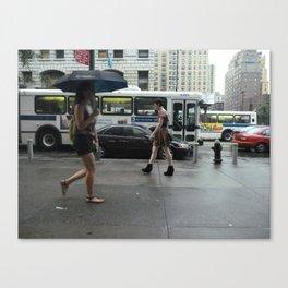 sidewalk 3 Canvas Print