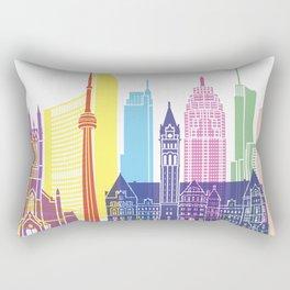 Toronto V2 skyline pop Rectangular Pillow