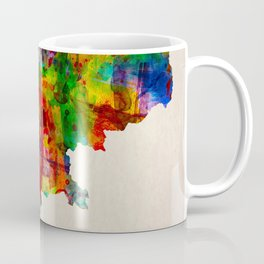 Cambodia Map in Watercolor Coffee Mug