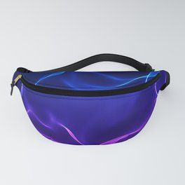 Elegant Abstract Waves -blue and purple- Fanny Pack
