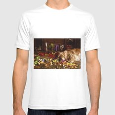 After The Party MEDIUM White Mens Fitted Tee