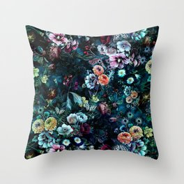 Night Garden Throw Pillow