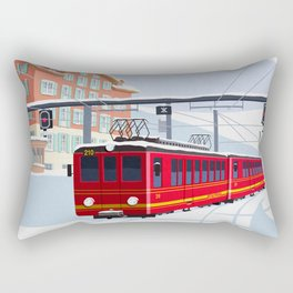 Grindelwald Ski Poster Rectangular Pillow