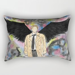 Watercolor Angel Rectangular Pillow