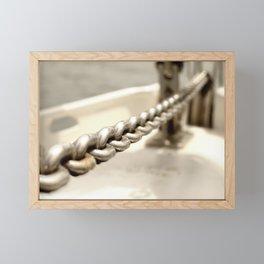 Anchor chain in detail Framed Mini Art Print
