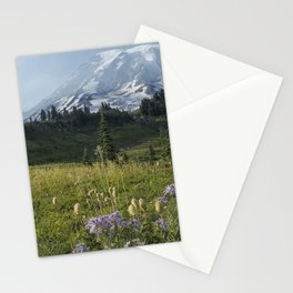 Wildflowers and Mount Rainier Stationery Cards