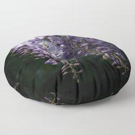 Wisteria With Garden Background Floor Pillow